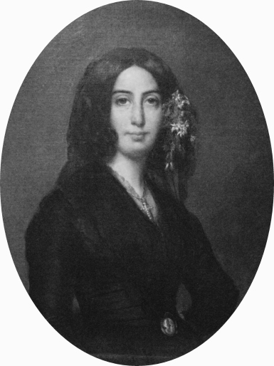 Amantine Lucile Aurore Dupin (a.k.a. George Sand), 1835. Portrait by Auguste Charpentier.
