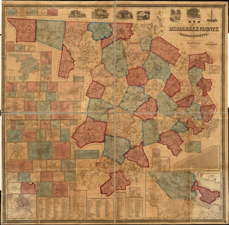 1856 Map of Middlesex County