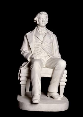Plaster model of Charles Sumner by Anne Whitney, 1875.
