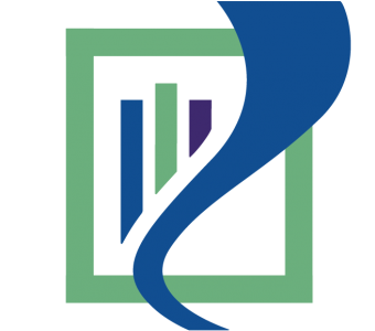 Three color logo for the Watertown Free Public Library shows a green rectangle, three colorful books, and a blue river.